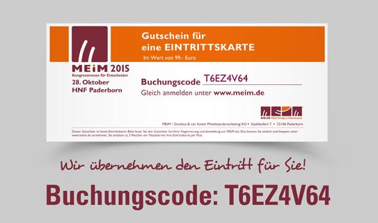 Kostenlose Einladung zur Kongressmesse MEiM 2015
