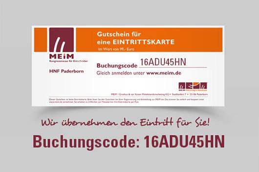 """Die Kongressmesse """"MEiM – Mehr Erfolg im Mittelstand"""" tagt am 30. November 2016 in Paderborn"""