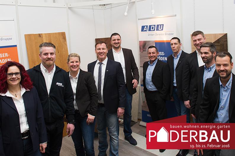 Das Team der ADU Gebäudeservice auf der PADERBAU 2016