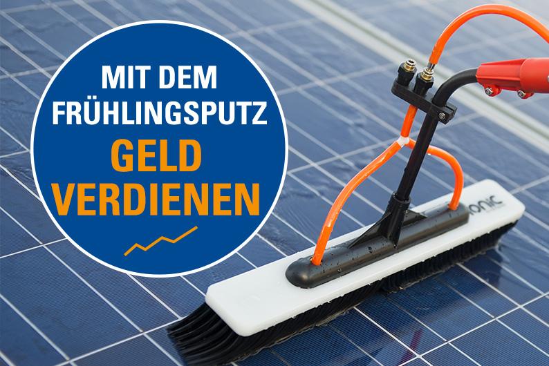 Wie Sie mit einer Photovoltaik-Reinigung oder durch das reinigen Ihrer Solaranlage mehr Gewinn erwirtschaften - ADU Gebäudeservice.